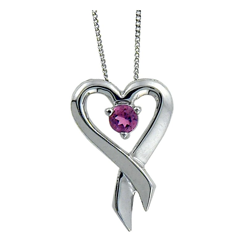 Forever Jewellery Pink Topaz Pendant