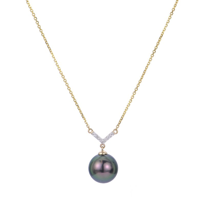 Imperial Pearl 14K Yellow Gold Tahitian Pearl Necklace