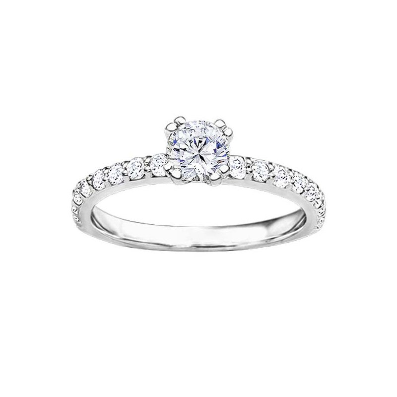 classic picture diamond of solitaire ring platinum carat