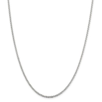 Sterling Silver 2.3mm Solid Rope Chain Anklet
