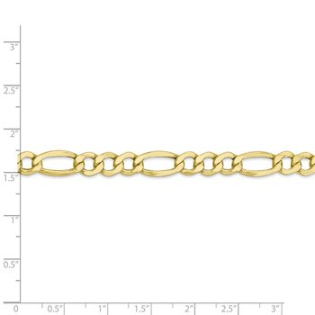 10k 7.3mm Semi-Solid Figaro Chain