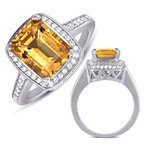 S. Kashi  & Sons Citrine & Diamond Ring
