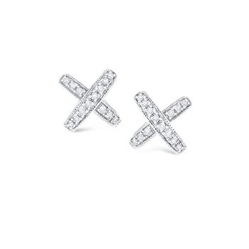 14K Diamond Kiss Earrings