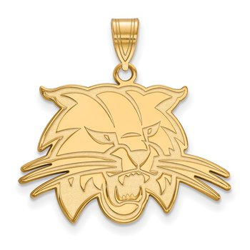 Gold-Plated Sterling Silver Ohio University NCAA Pendant