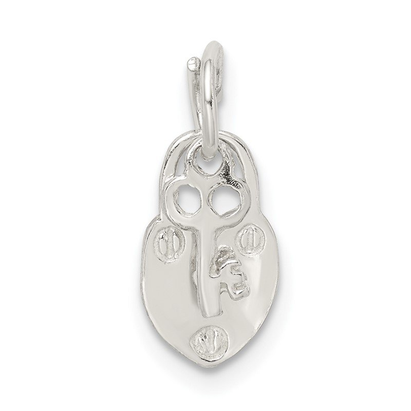 Quality Gold Sterling Silver Lock & Key Charm