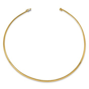14k 3mm Lightweight Omega Necklace