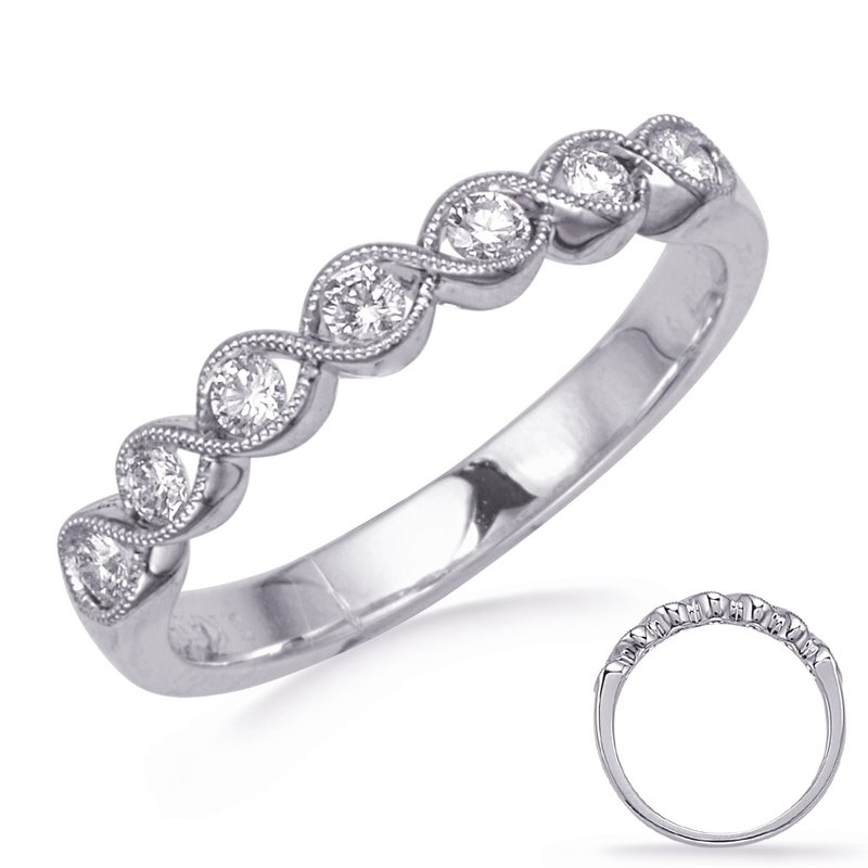 S. Kashi & Sons Bridal White Gold Stackable Band