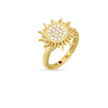 18Kt Gold Diamond Sun Ring