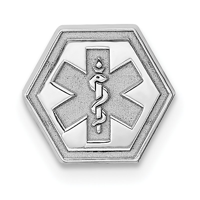 Quality Gold Sterling Silver Rhod-plt Non-enameled Attachable Emblem Medical Charm