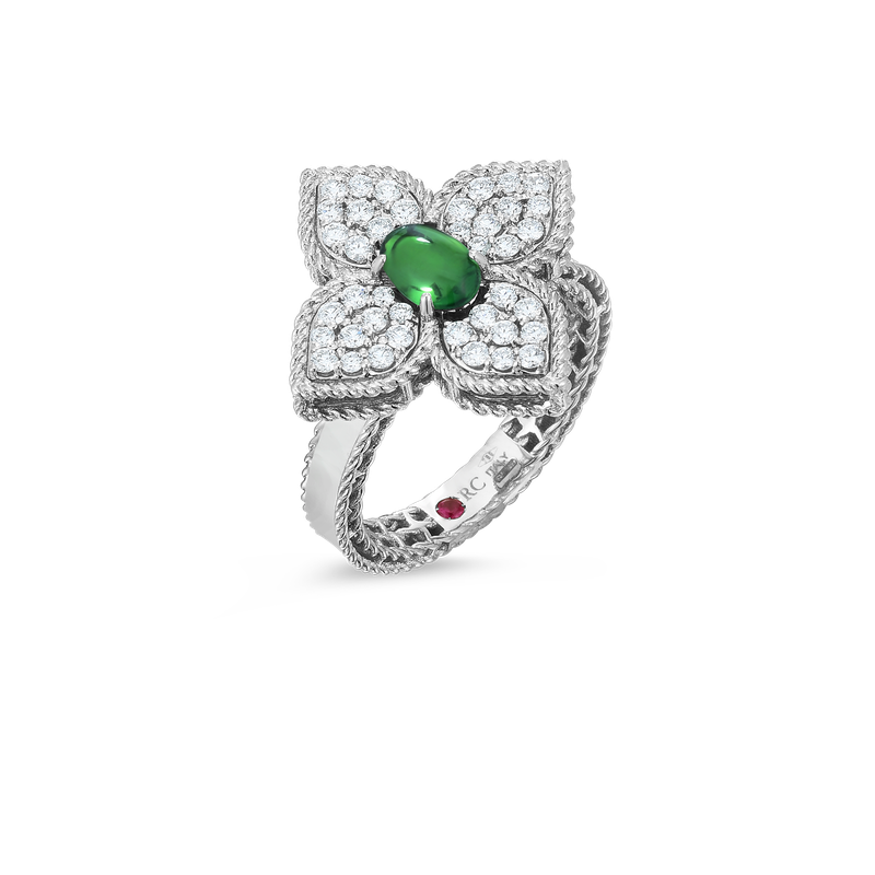 Roberto Coin 18K Diamond & Tsavorite Flower Ring