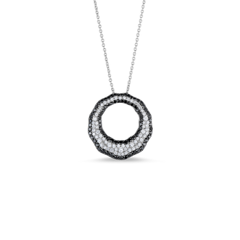 Scalloped Pendant With Diamonds