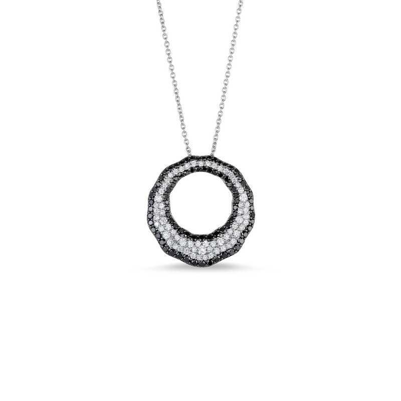 Roberto Coin Scalloped Pendant With Diamonds
