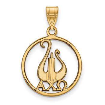 Gold-Plated Sterling Silver Alpha Chi Omega Greek Life Pendant