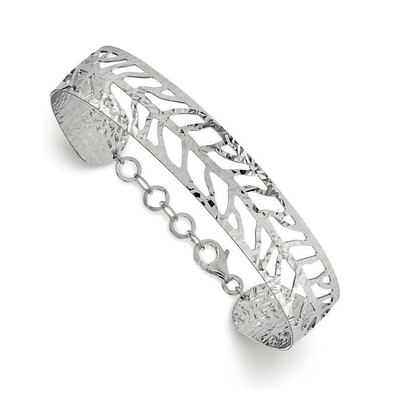 Leslie's Leslie's SS Rhodium-plated Fancy Bangle
