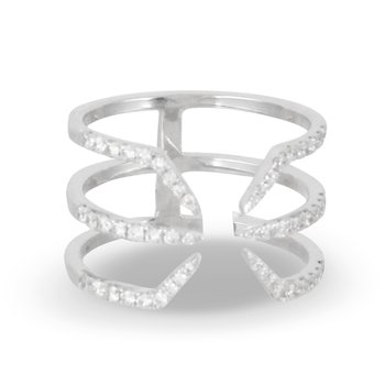 Open Space Diamond Ring 18KW