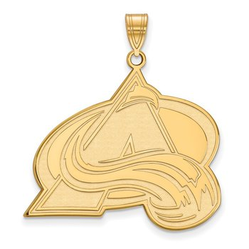 Gold Colorado Avalanche NHL Pendant