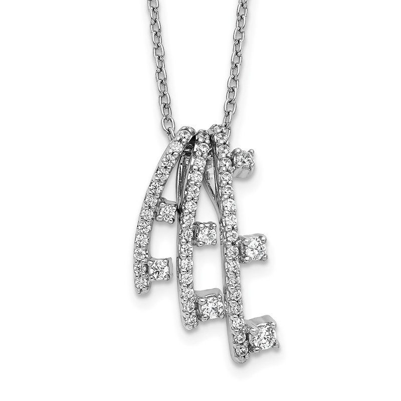 Quality Gold 14k White Gold Diamond Necklace