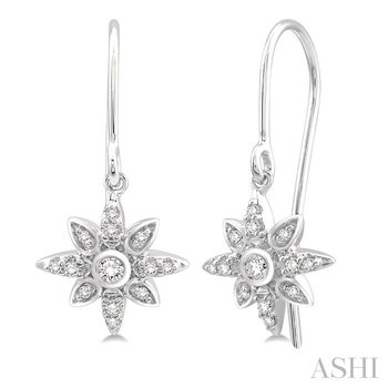 sunburst diamond earrings
