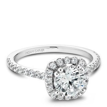 Noam Carver Modern Engagement Ring B007-02A