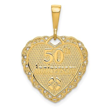 14k Reversible 50th ANNIVERSARY Charm