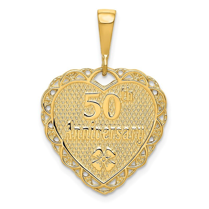 Quality Gold 14k Reversible 50th ANNIVERSARY Charm