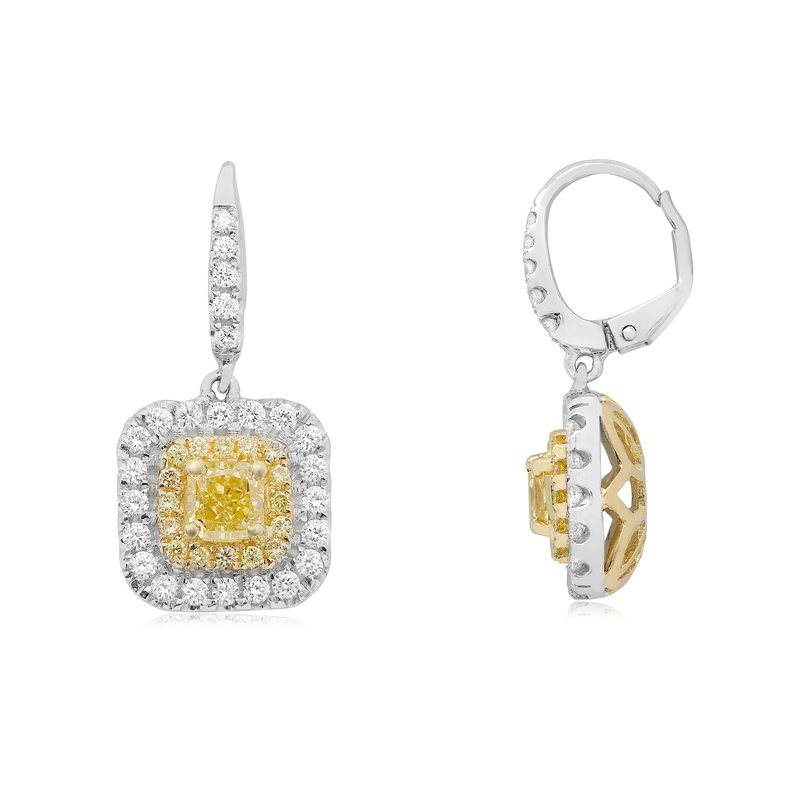 Roman & Jules Radiant Two Tone Diamond Earrings