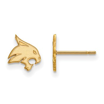 Gold Texas State University NCAA Earrings
