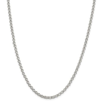 Sterling Silver 3mm Square Spiga Chain