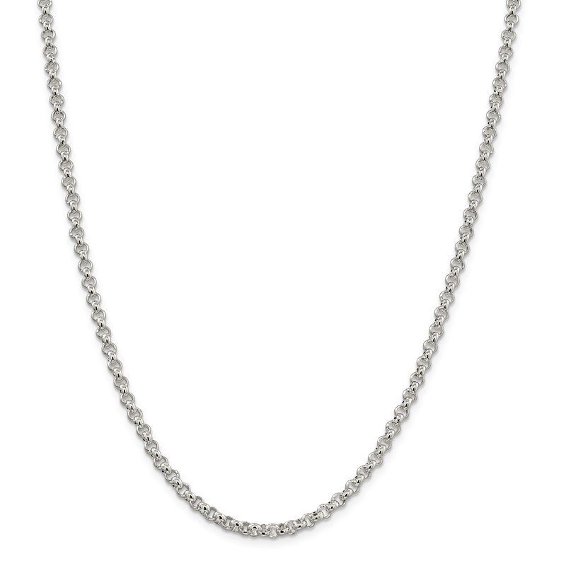 Quality Gold Sterling Silver 3mm Square Spiga Chain