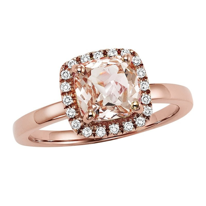 Bridal Bells 14K Morganite & Diamond Engagement Ring
