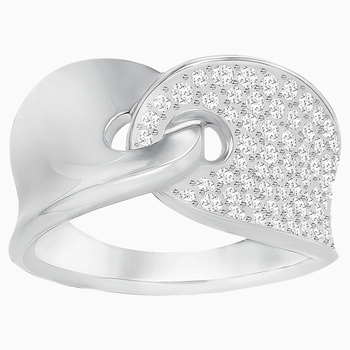 Guardian Ring, White, Rhodium Plating