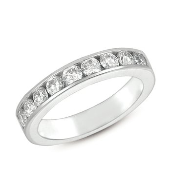 Channel Set White Gold Band