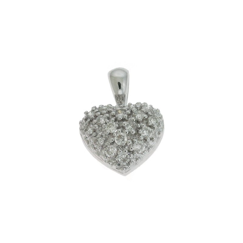 S. Kashi  & Sons White Gold Heart Pendant