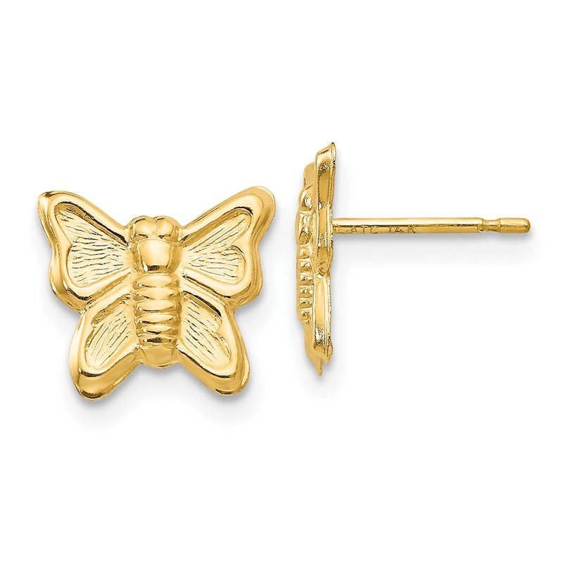 Quality Gold 14k Madi K Butterfly Post Earrings