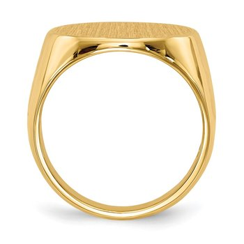 14k 17.5x18.0mm Closed Back Men's Signet Ring
