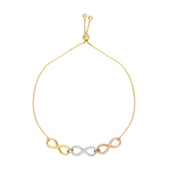 14K Gold Infinity Links Friendship Bracelet
