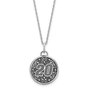 Sterling Silver 20 Matt Kenseth NASCAR Necklace