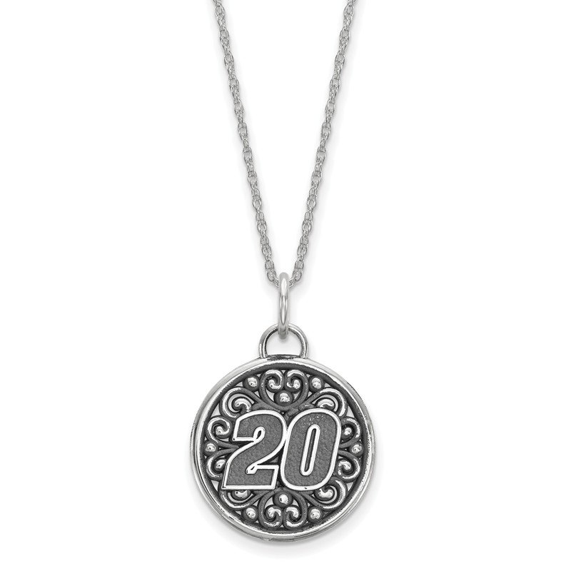 Nascar Sterling Silver 20 Matt Kenseth NASCAR Necklace