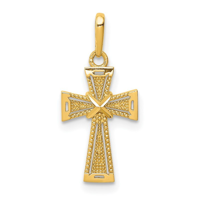 Lester Martin Online Collection 14K D/C Cross Pendant