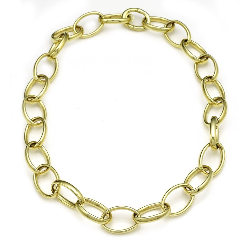 Rudolf Friedmann Yellow Gold Oval Link Bracelet