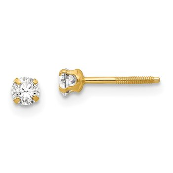 14k Madi K 3mm Synthetic Spinel Earrings