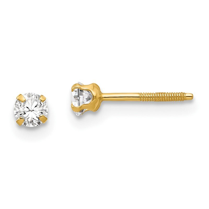 Quality Gold 14k Madi K 3mm Synthetic Spinel Earrings