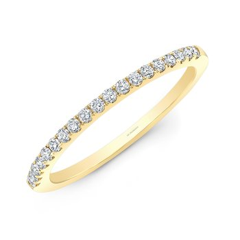 Yellow Gold Pave Stackable Wedding Band