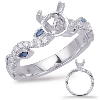 White Gold & Sapphire Engagement Ring