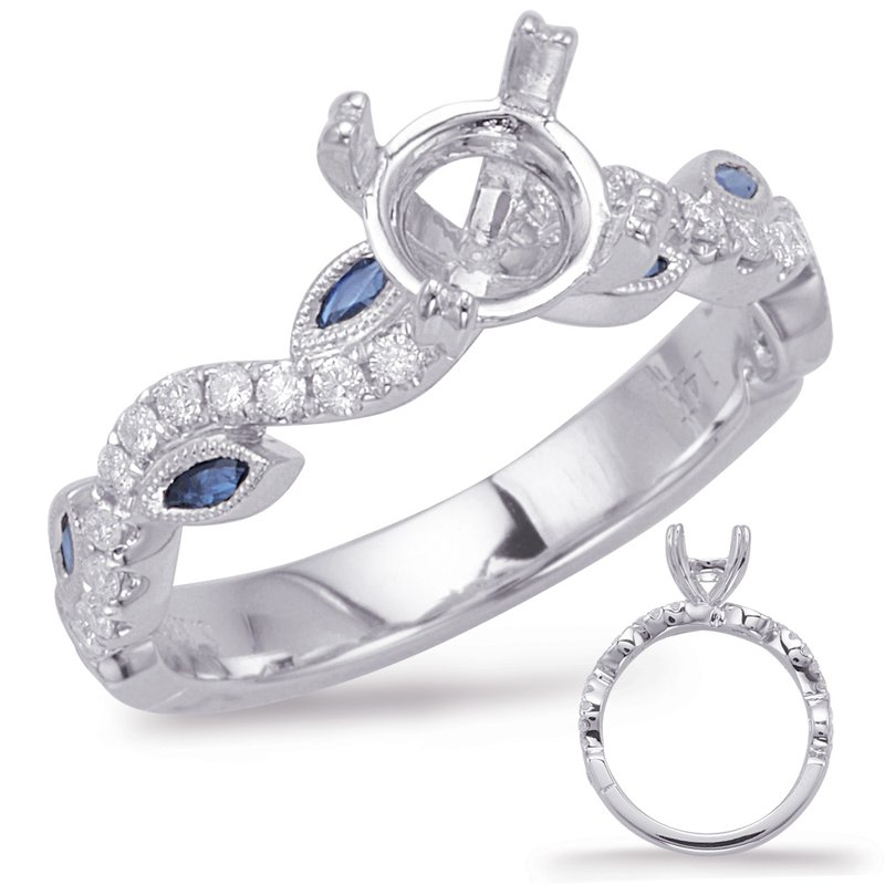 S. Kashi & Sons Bridal White Gold & Sapphire Engagement Ring
