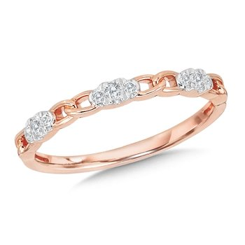 14K Chain-Link Stackable Band