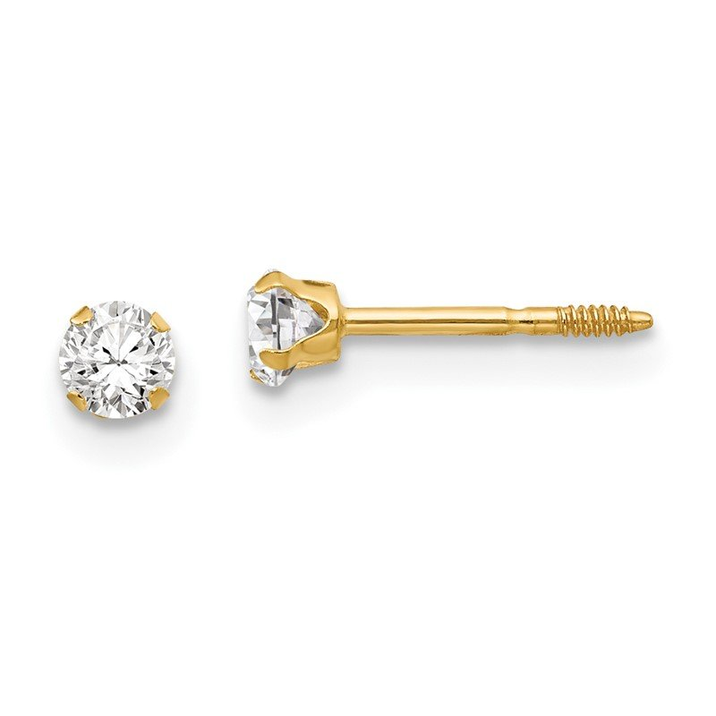 Quality Gold 14k Madi K 3mm CZ Earrings