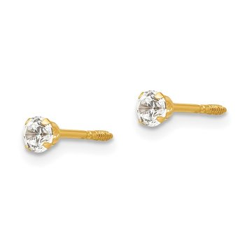 14k Madi K 3mm CZ Earrings