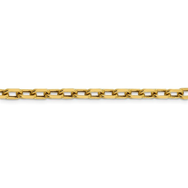 Quality Gold 14k 4.9mm Semi-solid D/C Open Link Cable Chain