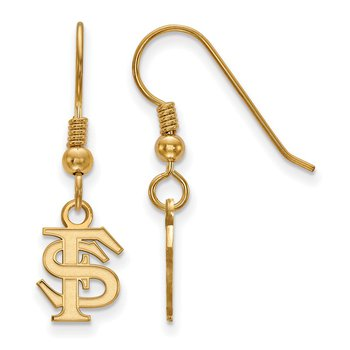 Gold-Plated Sterling Silver Florida State University NCAA Earrings